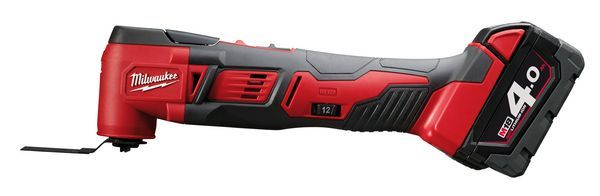Milwaukee M18BMT-421C multi-tool with 1x4ah and 1x2ah lithium-ion batteries