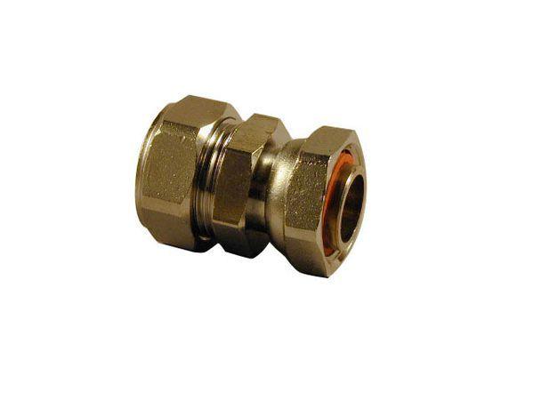 Pegler Yorkshire Kuterlite K626CP straight swivel connector 15mm x 1/2 Copper/Chrome Plated