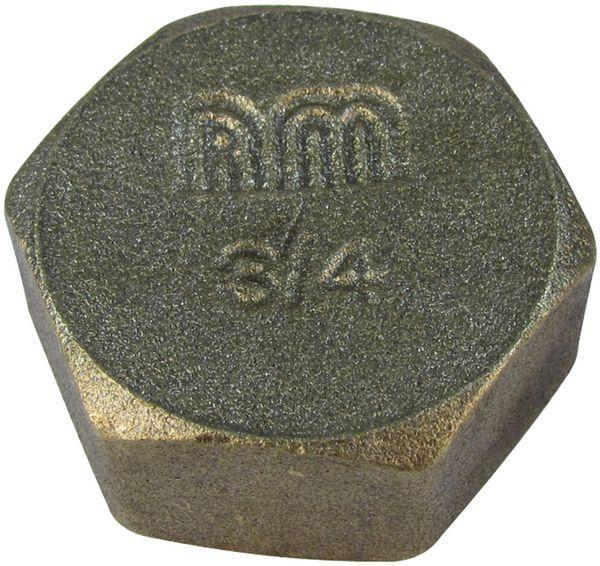 Midbras Midland Brass brass blanking cap and washer 3/4