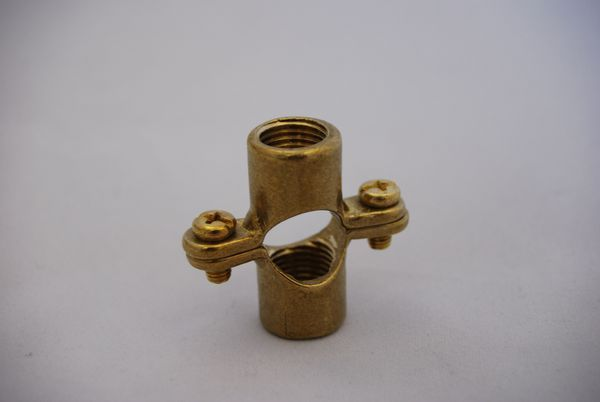 Tesla double pipe Ring 15 mm 1/4 inch Brass