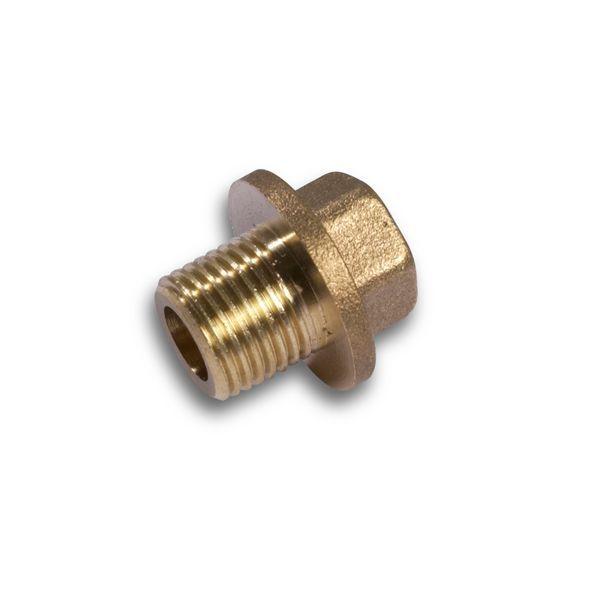 Comap hex head flanged plug 3/4 Brass