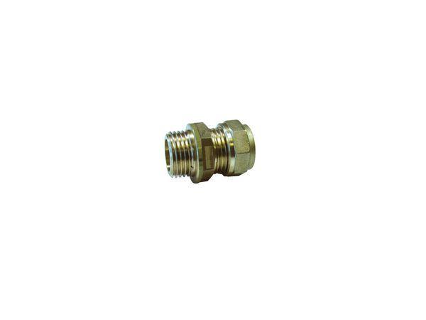 Pegler Yorkshire Prestex 42 male iron connector 15mm x 1/2