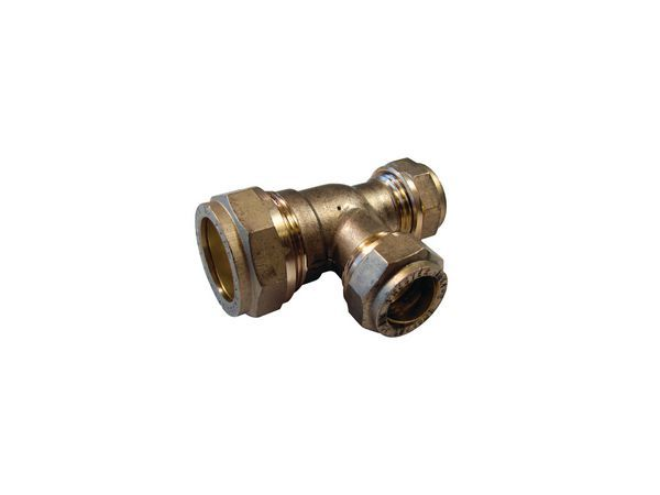 Pegler Yorkshire Prestex 50D one end and branch reduced tee 22 x 15 x 15mm