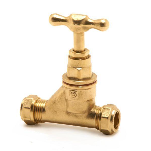Pegler Yorkshire Prestex 59 stop cock 22mm Brass
