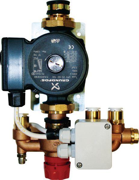 Polypipe under floor heating zonal regulation unit