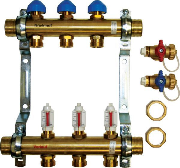 Polybld Polypipe UFH 8-port manifold 15mm