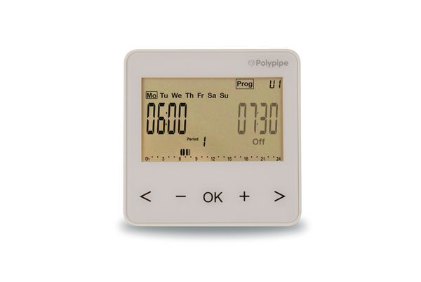Polybld POLYPIPE UFH WHITE 2 CHANNEL TIMECLOCK