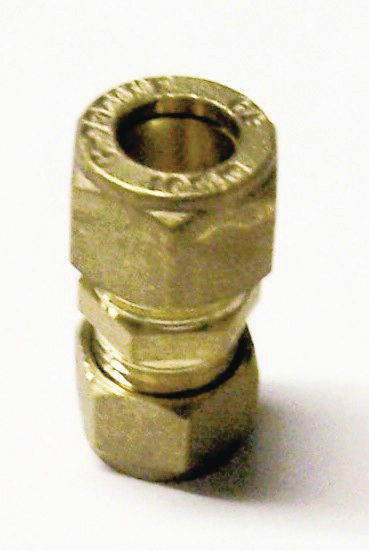 Wolseley Own Brand Center Center Brand compression straight reducing coupling 15 x 8mm