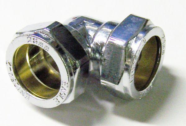 Center Center Brand 90deg compression elbow 28mm Chrome Plated