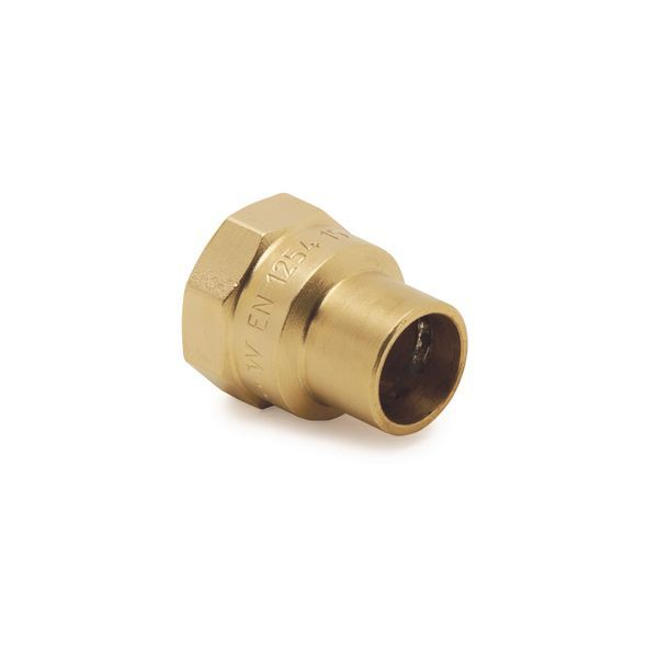 Wolseley Own Brand Center Center Brand integral solder ring straight female iron connector 15mm x 1/2