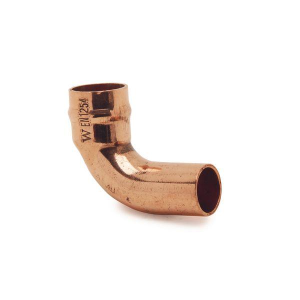 Wolseley Own Brand Center Center Brand integral solder ring 90deg street elbow 22mm