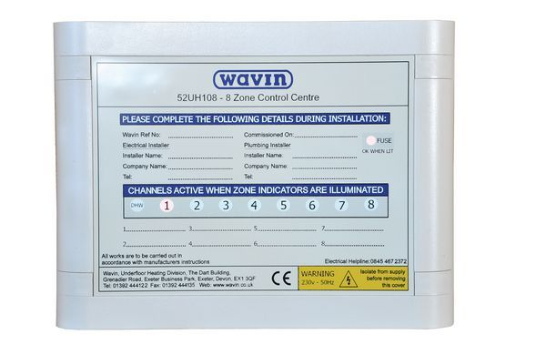 Wavin underfloor heating control centre 8 zone 12v