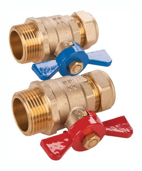 Wavin Hep2O underfloor heating isolation valves 22mm