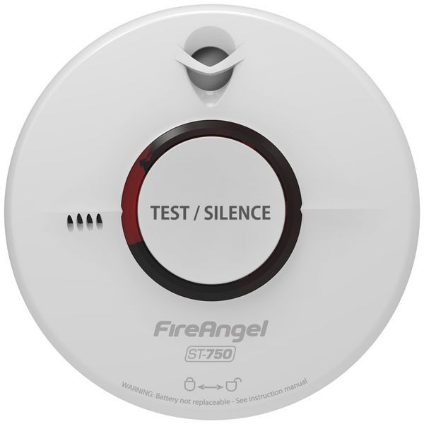 Fireangel ST-750T smoke alarm 10 year life