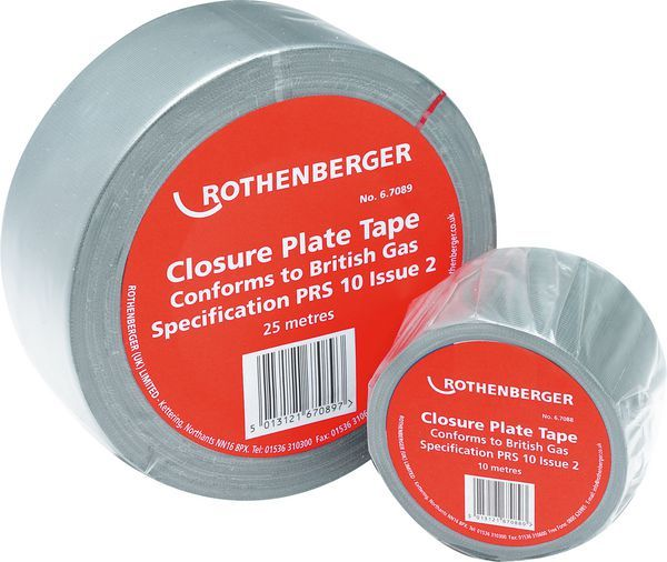 Rothenberger closure plate tape 50mm x 25mtrs
