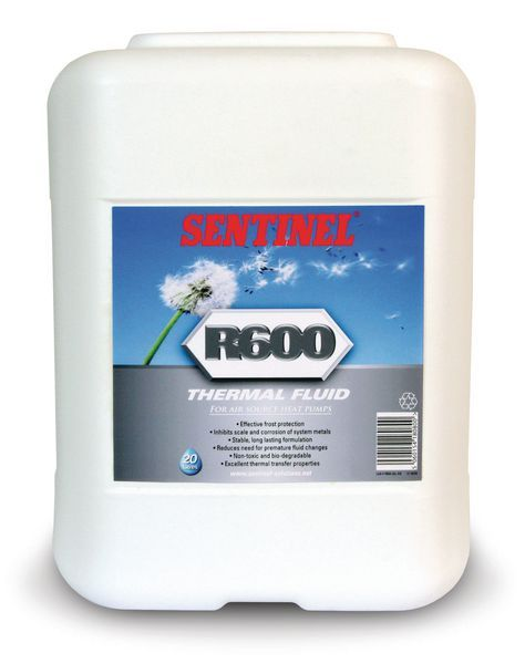 Sentinel R600 air source heat pump thermal fluid 20ltr