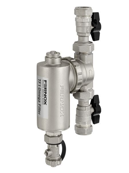 Alpha Fernox TF1 Omega filter with valve connections 28mm