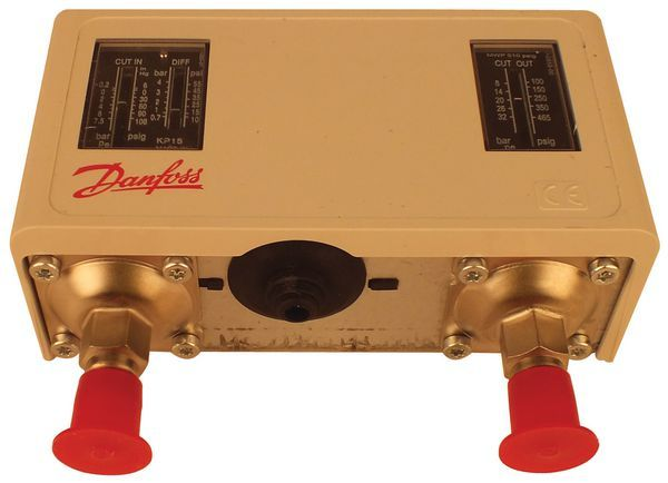Danfoss KP15 high/low pressure manual/auto reset switch