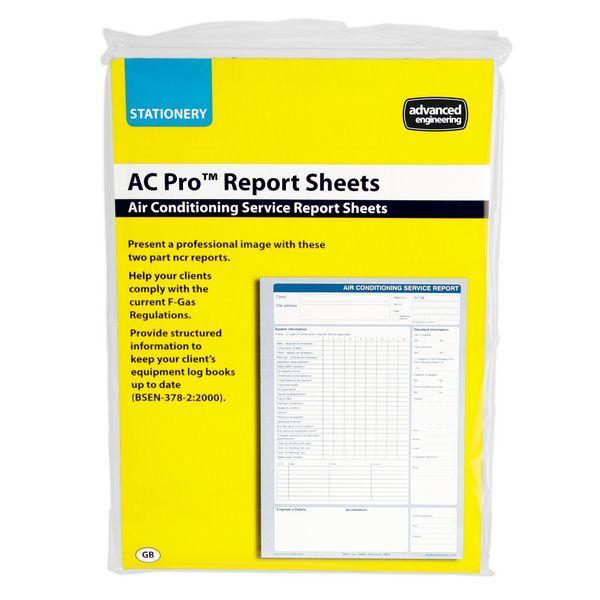 Advanced Engineering AC Pro service reports pad (50)