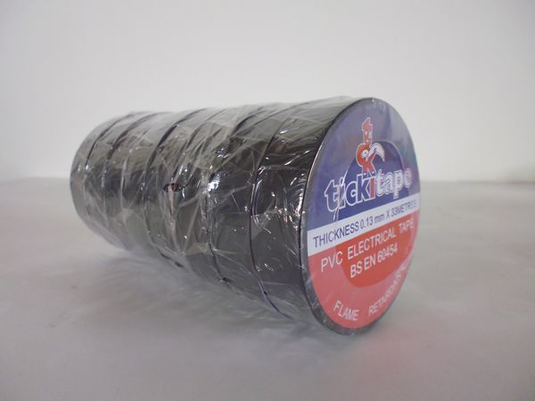 Adhesive Specialities 401001904A PVC tape 19mm x 33mtr Black