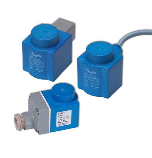 Danfoss EVR-AKV coil with DIN plug 220/230v 10w