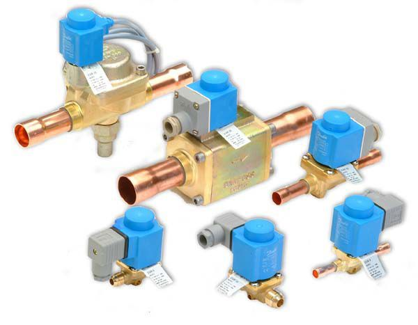 Danfoss EVR2 normally closed flared solenoid valve 1/4