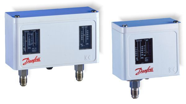 Danfoss KP7BS dual high pressure switch with manual reset
