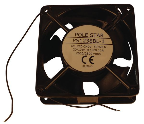 Pole Star compact axial fan leads 120 x 120 x 38mm 230v