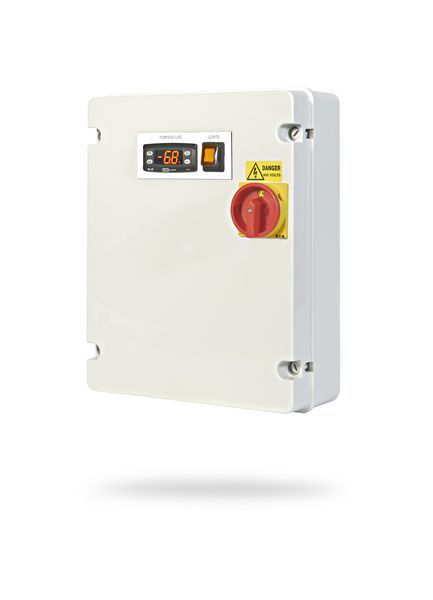 Gbcont GB Controls Universal GBUE-EEW-01E EW+ evaporator panel with 1 phase fans (4.5A) and 1 phase ED 4.1kw