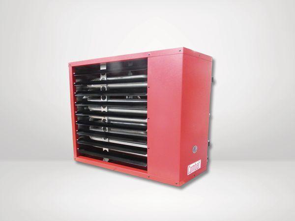 Combat Elite ELUA75G suspended unit warm air heater natural gas 75kW Red