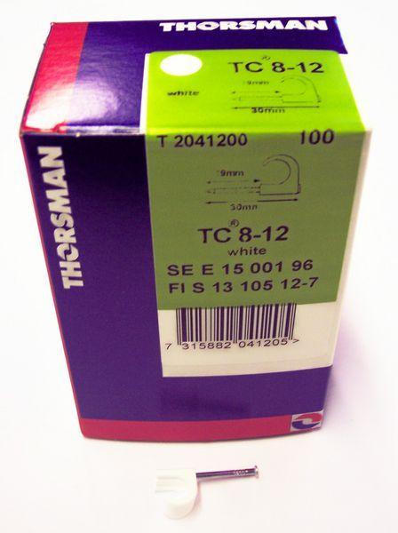 Thorsman plastic pipe clip 8-12mm