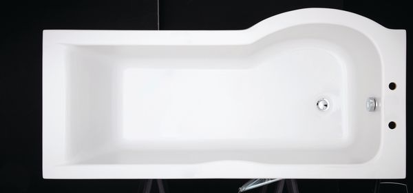 Nabis Neon left hand P shape shower bath 1700mm x 700mm