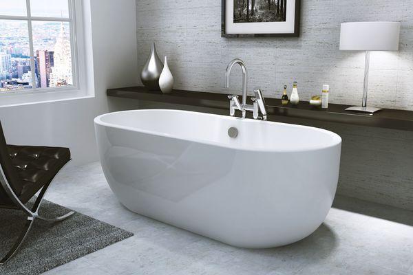 Nabis contemporary freestanding bath plus waste