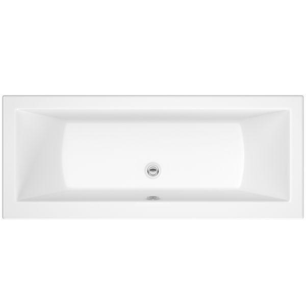 Wolseley Own Brand Nabis Monroe double ended bath 1800x800 white