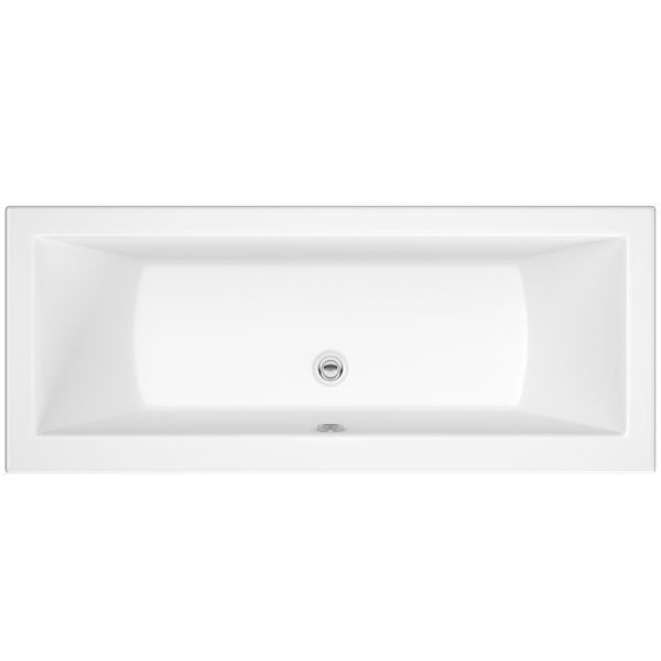 Nabis Monroe double ended bath 1700x700mm white