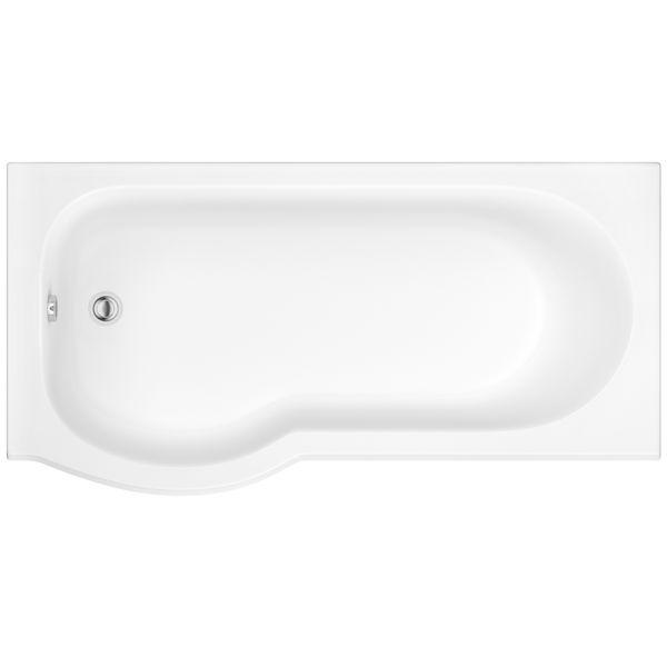 Wolseley Own Brand Nabis Taylor shower bath left hand P-shape 1700x850x750mm white