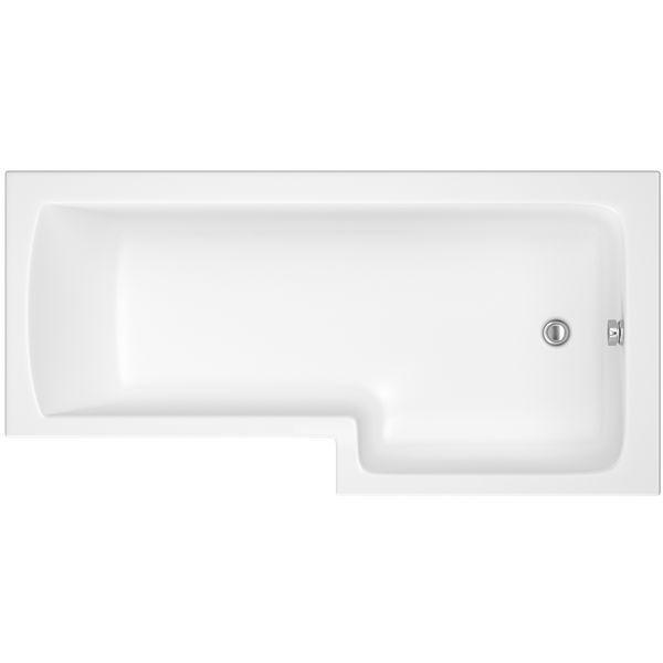 Wolseley Own Brand Nabis Garland shower bath right hand L-shape 1700x850x700mm white