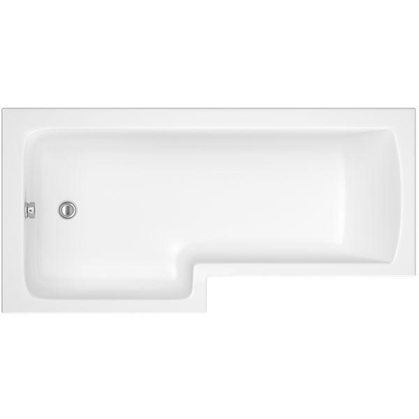 Wolseley Own Brand Nabis Garland shower bath left hand L-shape 1500x850x700mm white