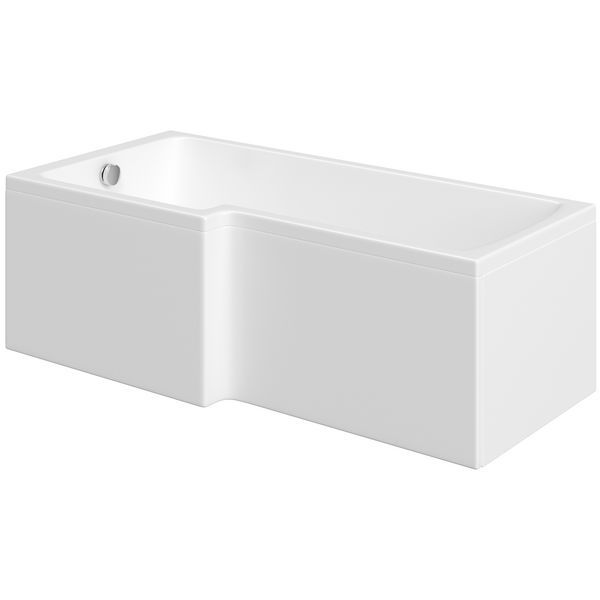 Wolseley Own Brand Nabis Garland shower bath L-shape front panel 1500x510mm white