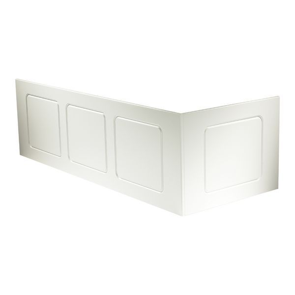 Geberit Twyford View bath front panel 1700mm White