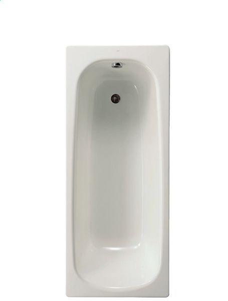 Nabis plain 2 tap hole steel bath only 1700 White