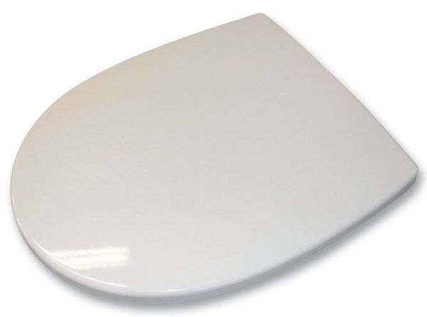 Geberit Twyford Refresh RE7815 seat and cover stainless steel hinge White