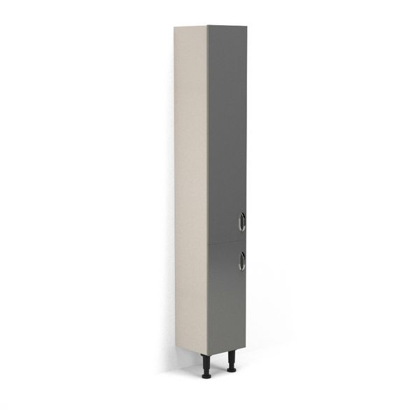 Nabis Grace doors for tall unit 300mm Charcoal Grey Gloss