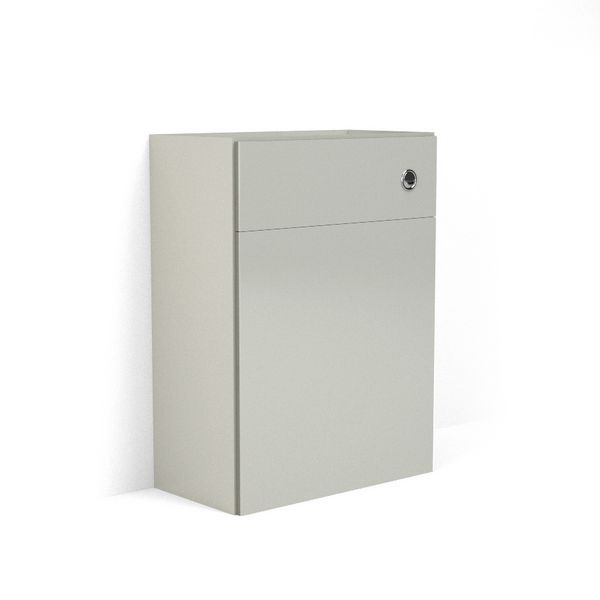 Wolseley Own Brand Nabis Grace fascia pack for back-to-wall toilet unit 500mm Silver Grey Gloss