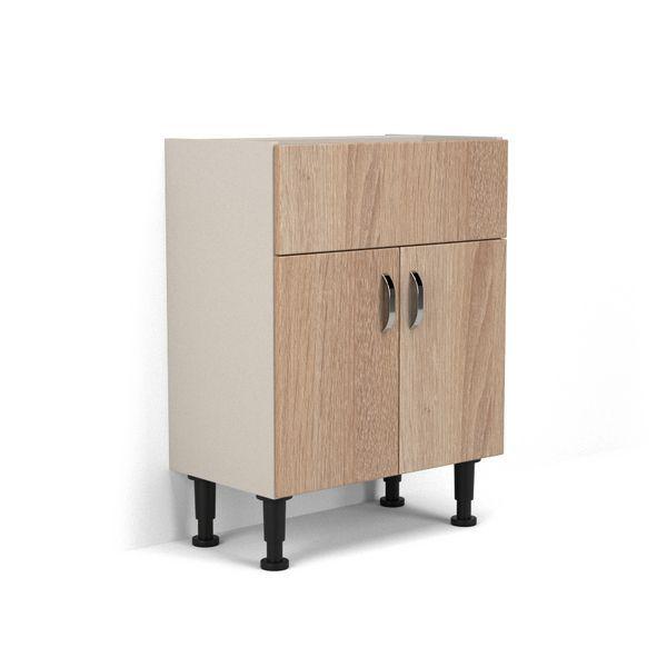 Wolseley Own Brand Nabis Vision fascia pack for washbasin unit 600mm Natural Oak