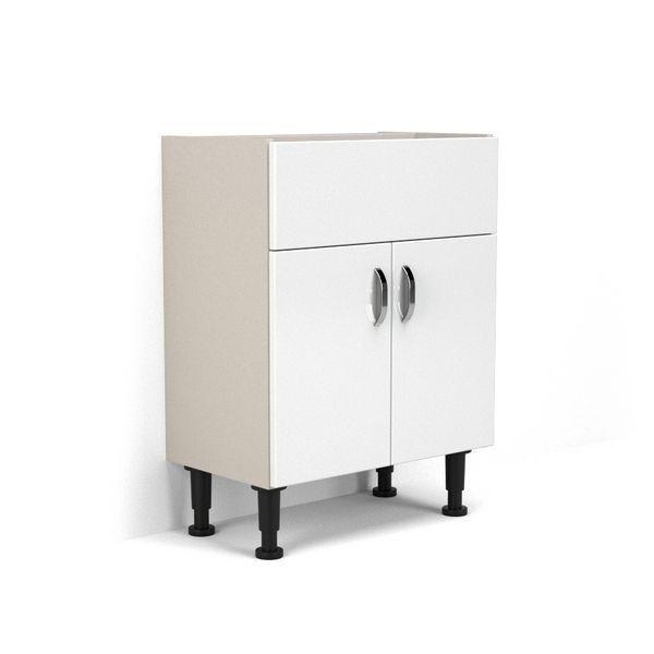 Wolseley Own Brand Nabis Grace fascia pack for washbasin unit 700mm White Gloss