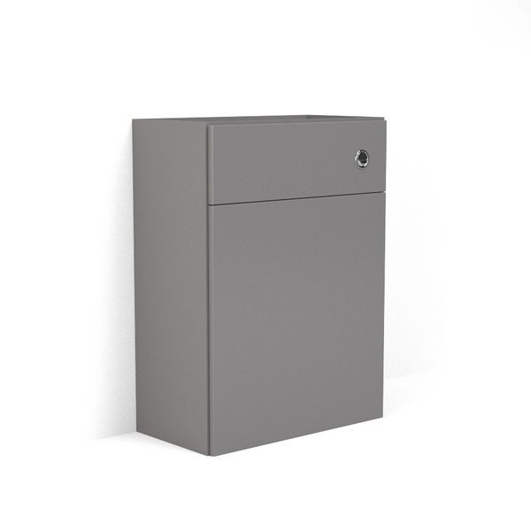 Wolseley Own Brand Nabis carcass for reduced back-to-wall toilet unit 500mm Grey Gloss