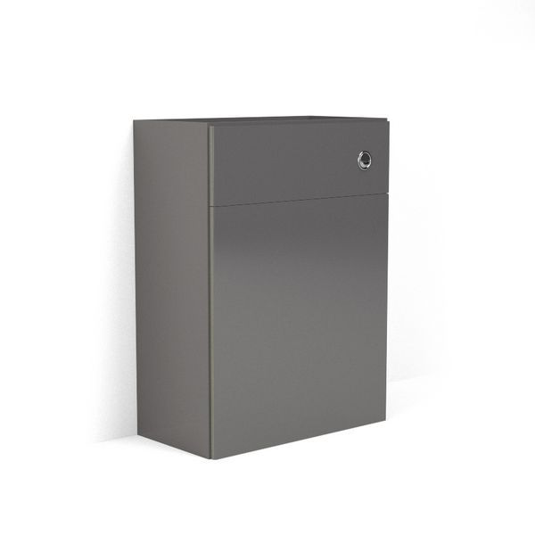 Wolseley Own Brand Nabis carcass for reduced back-to-wall toilet unit 600mm Charcoal Grey Gloss