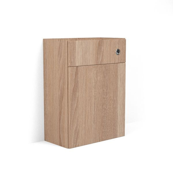 Nabis carcass for reduced back-to-wall toilet unit 600mm Natural Oak