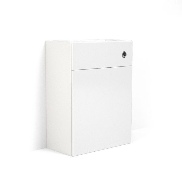 Nabis carcass for reduced back-to-wall toilet unit 600mm White Gloss